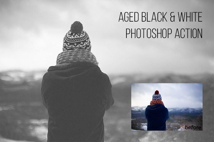 Free Aged Black & White Photoshop Action