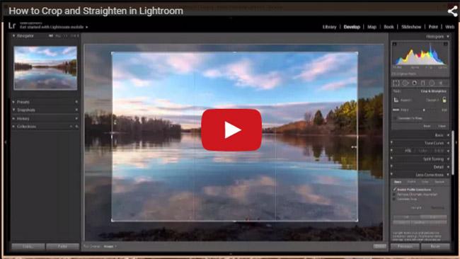 How to Crop and Straighten in Lightroom