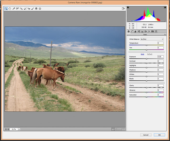 Camera Raw Filters in Photoshop