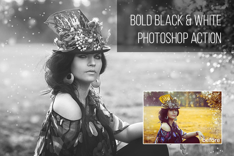 Bold Black & White Photoshop Action