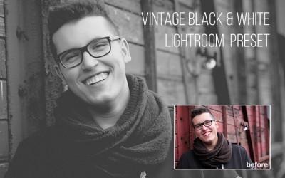 Vintage Black & White Lightroom Preset