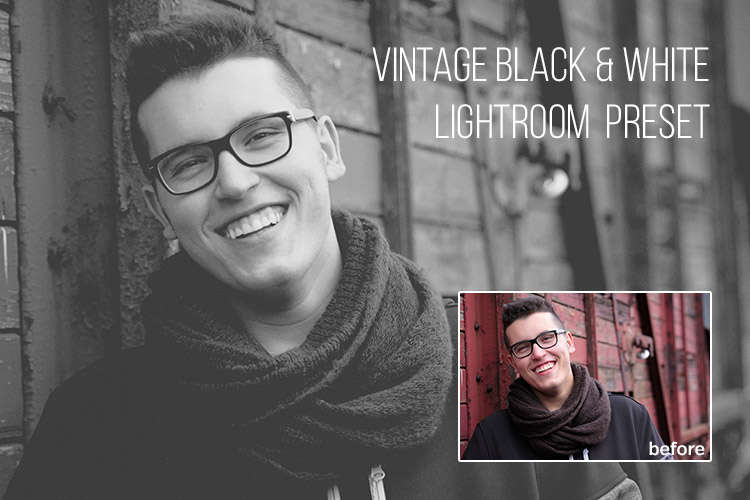 Free Vintage Black & White Lightroom Preset