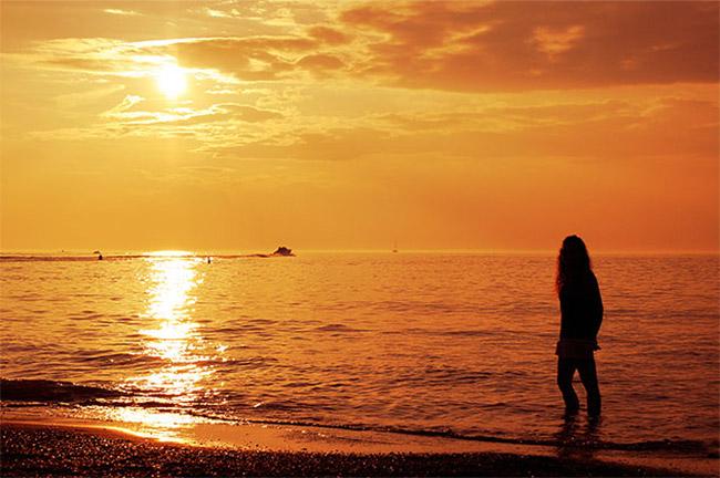 Warm Golden Sunset in Photoshop