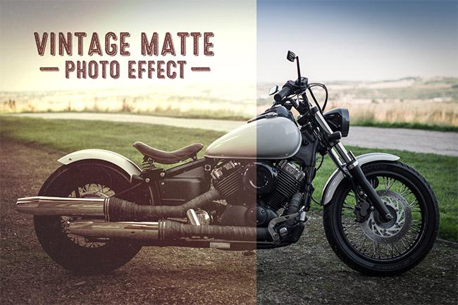 Vintage Matte Effect
